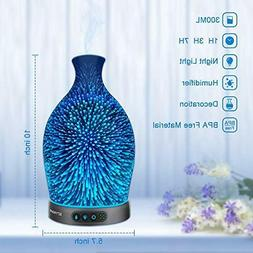 Sztrokia Essential Oil Diffuser 3D Glass Aromatherapy Cool M