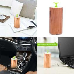 Essential Oil Diffuser For Car Waterless Mini Wood Grain Aro