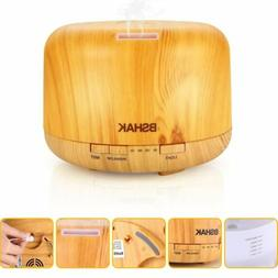 Essential Oil Diffuser Wood Grain Ultrasonic Aromatherapy Hu