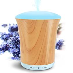 LUSCREAL Essential Oil Diffuser Woodgrain, 200ml Aromatherap