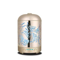 Kind-Hearted Coosa 100ml Metal Elephant Pattern 100ml Ultrasonic Aromatherapy Essential Oil Diffuser Aroma Diffuser Cool Mist Humidifier Small Air Conditioning Appliances Household Appliances