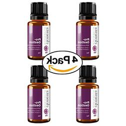 4 Pack Pro-gestion Essential Oil Blend   100% Pure Therapeut