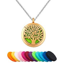 Third Time Charm Gold Tree Of Life Aromatherapy Jewelry Esse