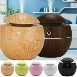 Home Aroma Essential Oil Diffuser Wood Grain Ultrasonic Arom
