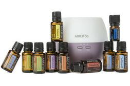 doTERRA Home Essentials Kit w/Petal Diffuser-Therapeutic Gra