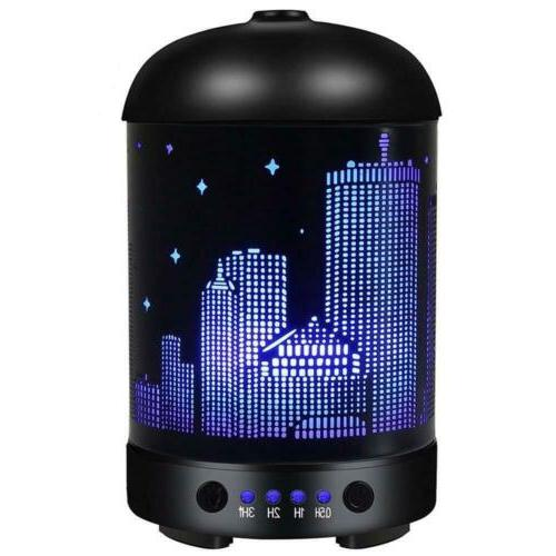 COOSA 100ml Essential Oil Diffuser City Stars Pattern Waterl