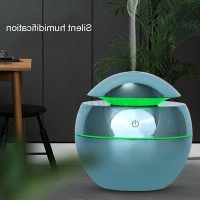 130ml mist ultrasonic humidifier led aroma essential