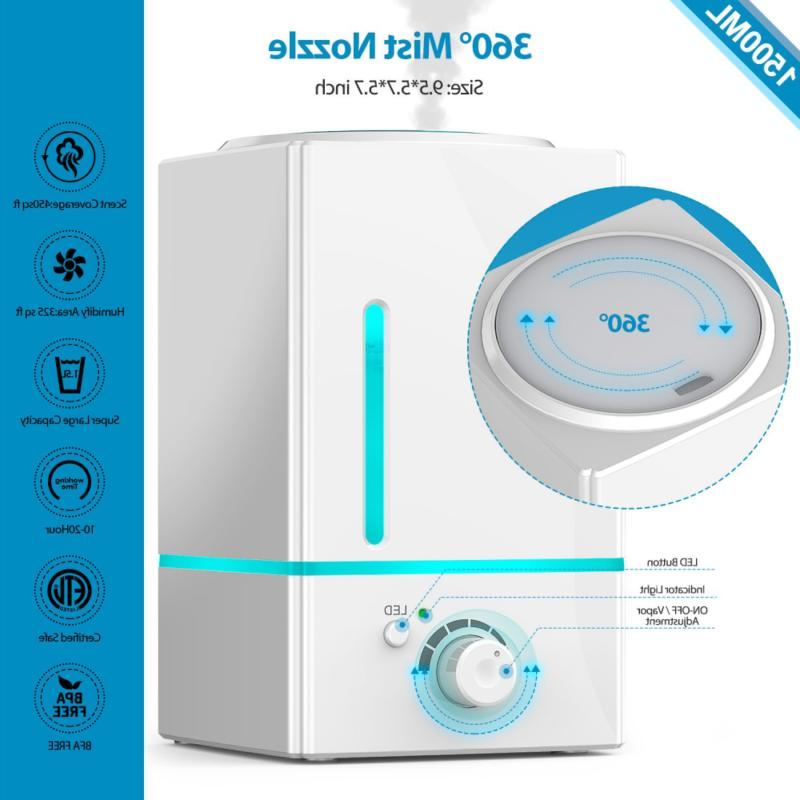 1500ml Aroma Essential Diffuser Aromatherapy Humidifier 7