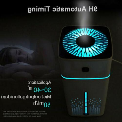 USB Electric Mist Air Humidifier LED Ultrasonic Aroma Essent
