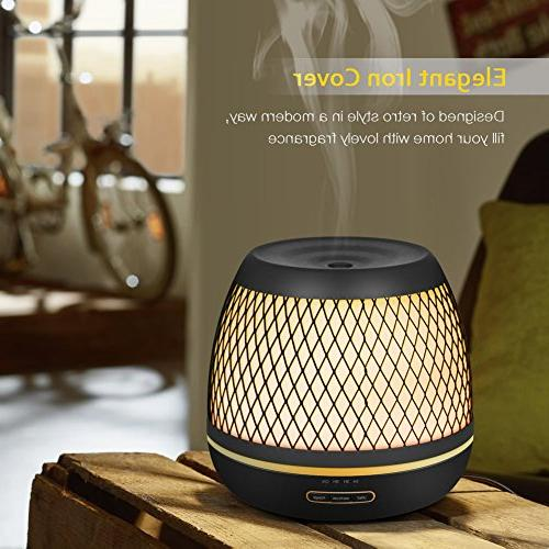 InnoGear 2019 500ml Aromatherapy with Diffuser Stlye Mist 7 Colorful Home Bedroom Yoga Spa