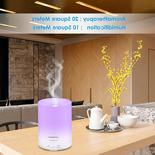 URPOWER 2nd Generation Aroma Ultrasonic AUTO 6-7 HOURS - LED Lights Timer