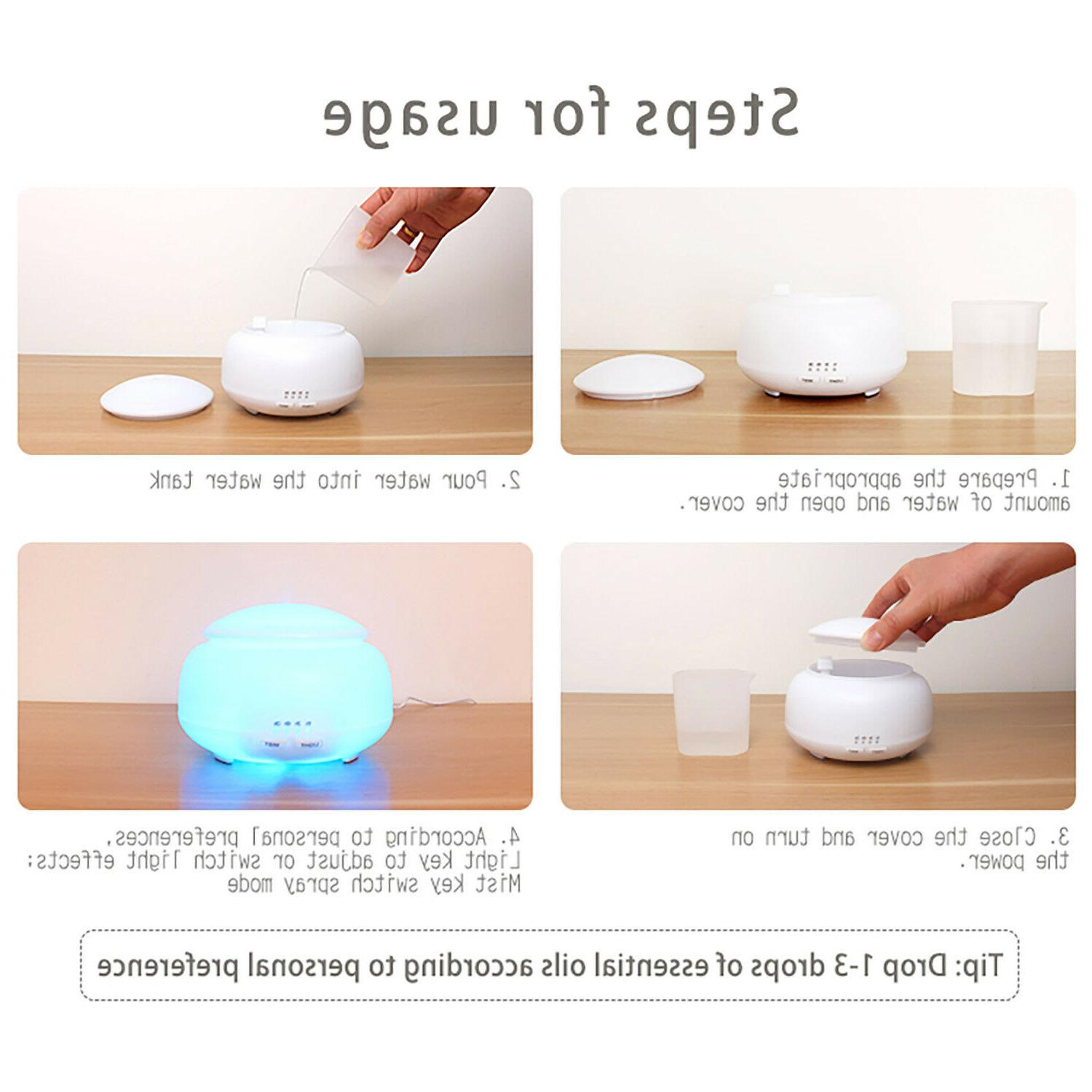 300ml Essential Oil Diffuser,Daroma Aromatherapy Mist Humidifier