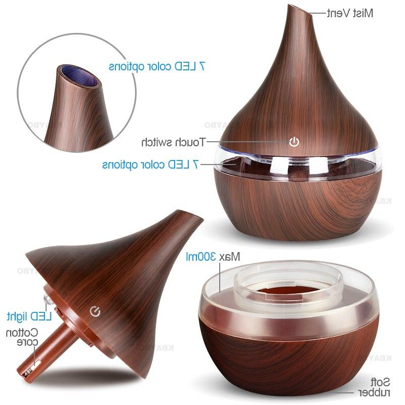 KBAYBO 300ml Aroma <font><b>diffuser</b></font> wood Ultrasonic Essential oil Aromatherapy maker for home