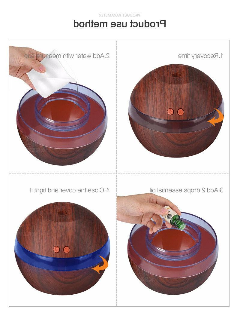 300ML Aroma Humidifier Essential Oil Purifier
