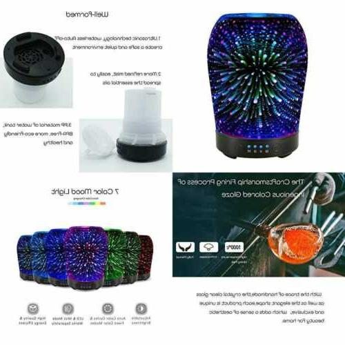 3d aromatherapy glass essential oil diffuser 100ml