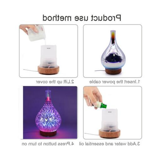 7 100ML Firework Essential Aroma LED Humidifier