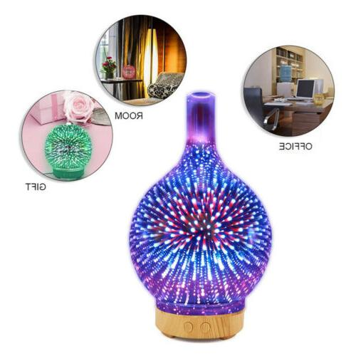7 Color 100ML 3D Firework Oil Aroma Diffuser LED Humidifier