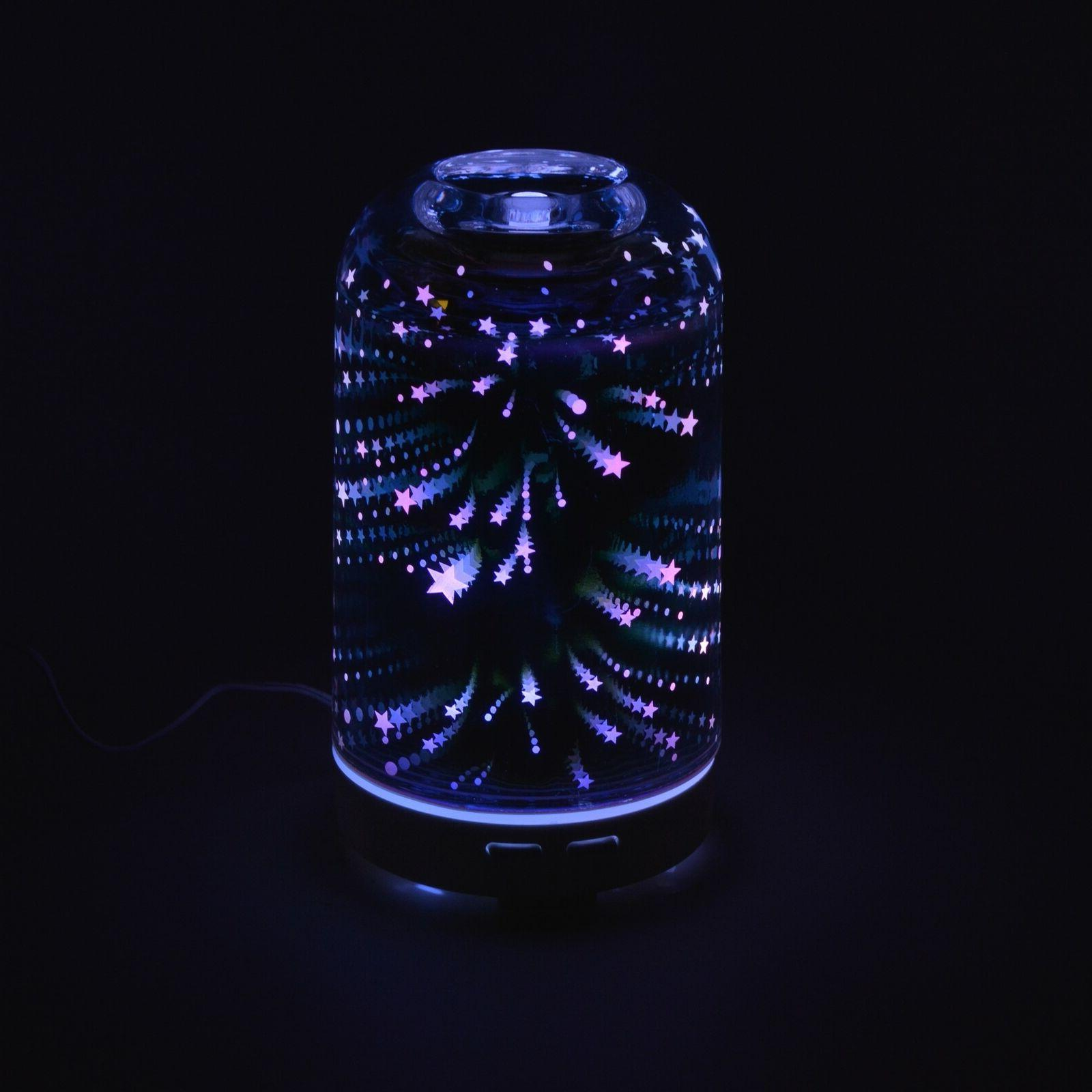 3D Galaxy Glass Oil Humidifier Aromatherapy LED