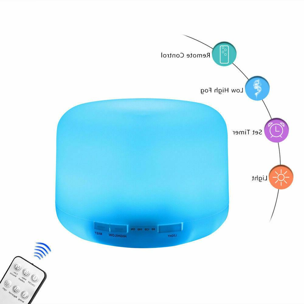 500ML Aroma Air LED Essential Oil Ultrasonic Humidifier