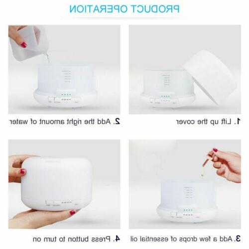 500ML Air LED Diffuser Ultrasonic Aromatherapy Humidifier