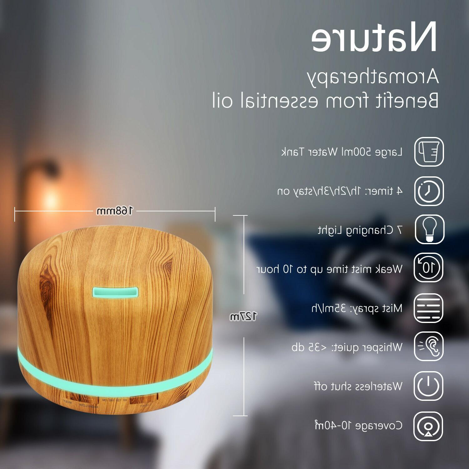 500ml Large Essential Oil Diffuser, Daroma Mist Humidifier