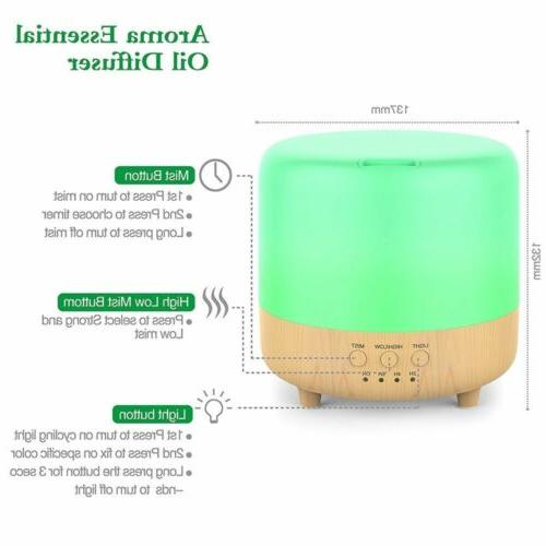 LED Aromatherapy Oil Diffuser Fountain Air Humidifier