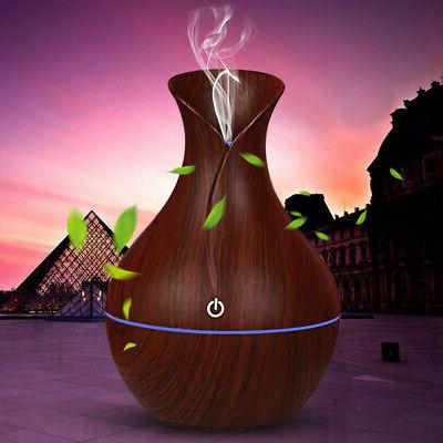 7 Color Oil Wood Grain Aromatherapy Humidifier