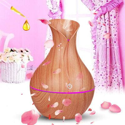 7 Aroma Essential Oil Diffuser Wood Grain