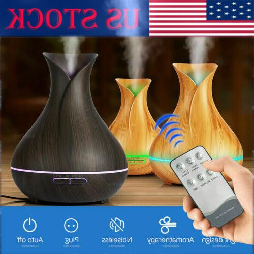 7led aroma remote 400ml diffuser with humidifier