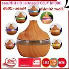 7LED Wood Grain 300ML Aromatherapy Essential Oil Diffuser Mi