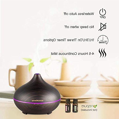InnoGear Oil Diffuser Grain Aroma Diffusers Cool Mist Humidifier Mist Color Night Waterless Auto Shut-off