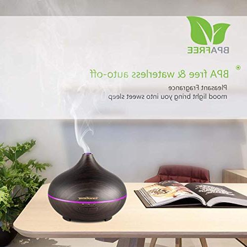 InnoGear Aromatherapy Essential Humidifier Timer Mist Color Night Waterless Shut-off