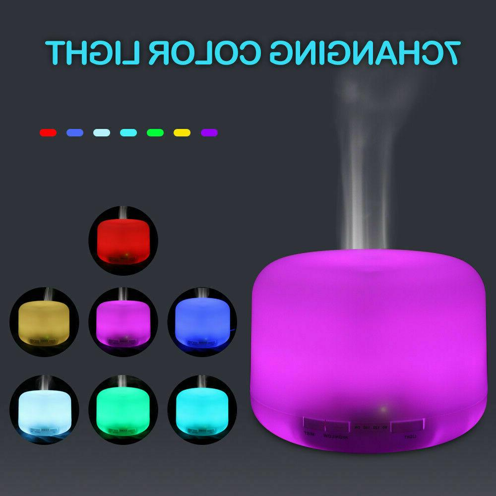 Air Humidifier Essential Diffuser Ultrasonic Aromatherapy Home
