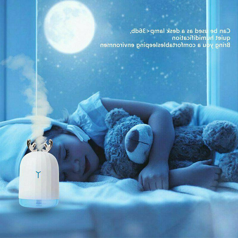 Air Humidifier LED Essential Aromatherapy Office