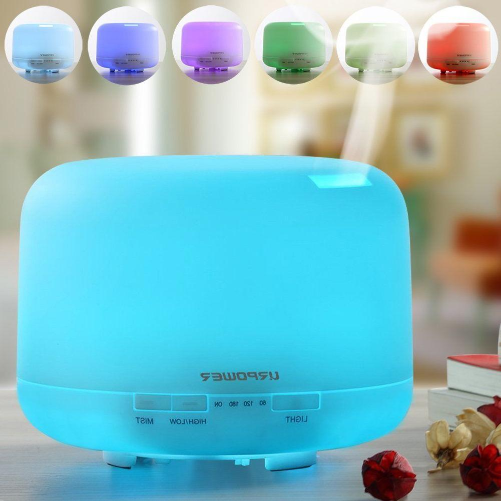 URPOWER Aroma Essential Oil Diffuser 500ml Ultrasonic Humidi