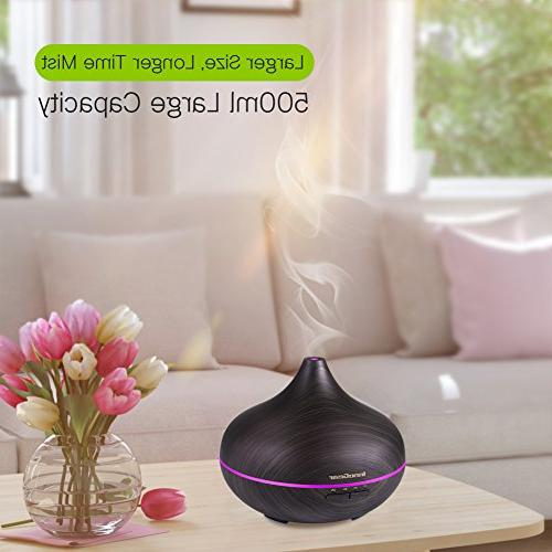 InnoGear Essential Oil Aroma Cool Humidifier with Mist 7 Night Lights Waterless Shut-off for Office Yoga