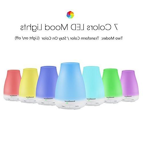 InnoGear 2nd Version Essential Diffuser Ultrasonic Diffusers Mist with 7 Lights and Waterless Auto Shut-off for Bedroom Room