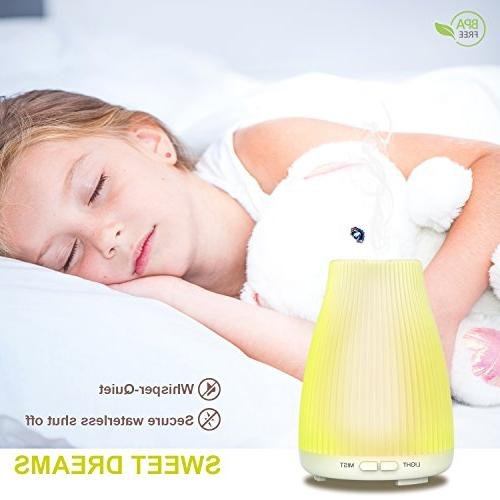 Neloodony Diffuser For Essential Mist Waterless Auto Bedroom Office Study Baby Home