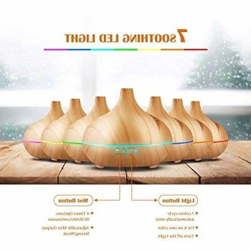 Aromatherapy Oil Humidifier Wooden Yoga Diffuser