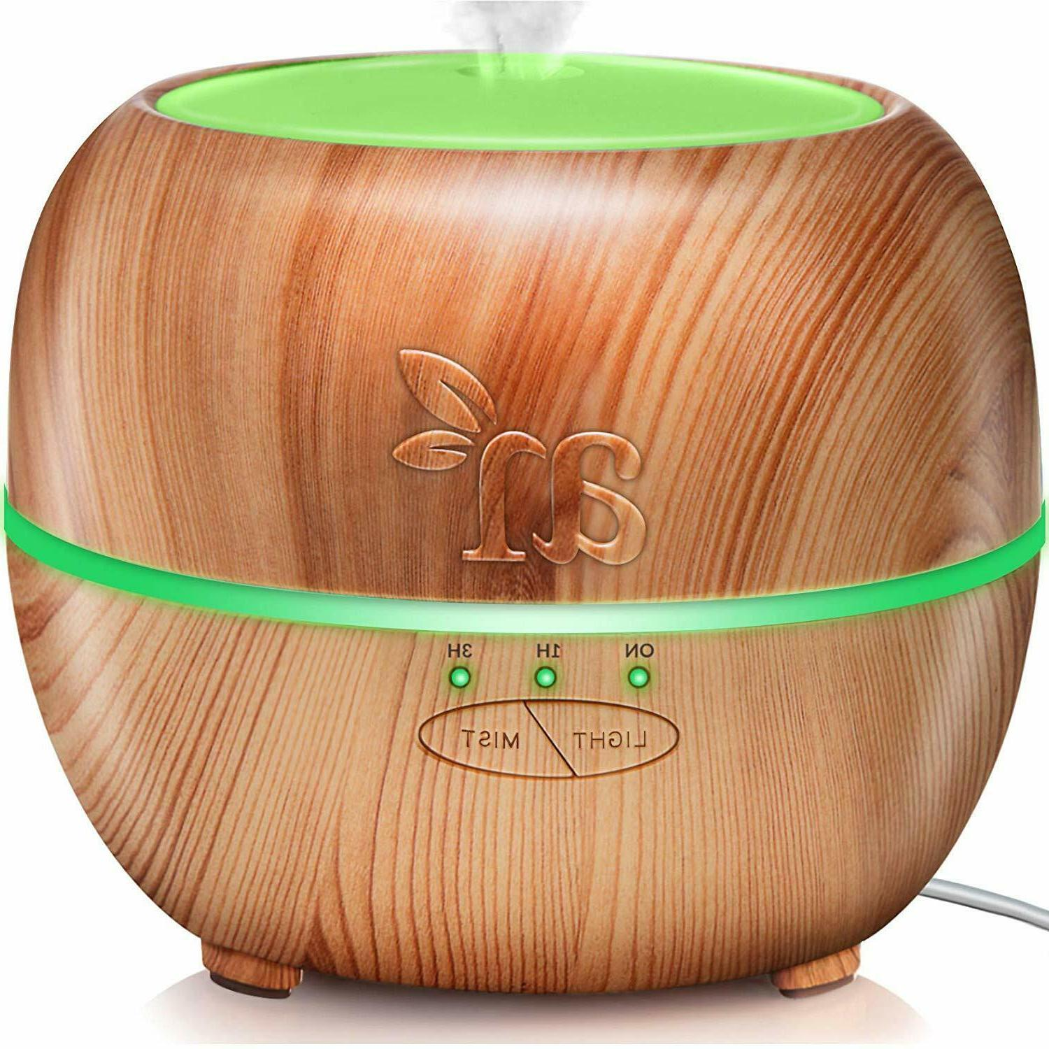 Artnaturals Essential Oil Diffuser Plus, Blonde Wood, 13.5 F