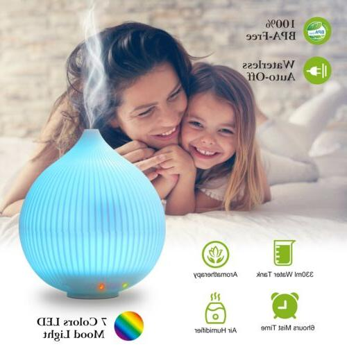 7-Color Changing Ultrasonic Aroma Diffuser Humidifier Aromat