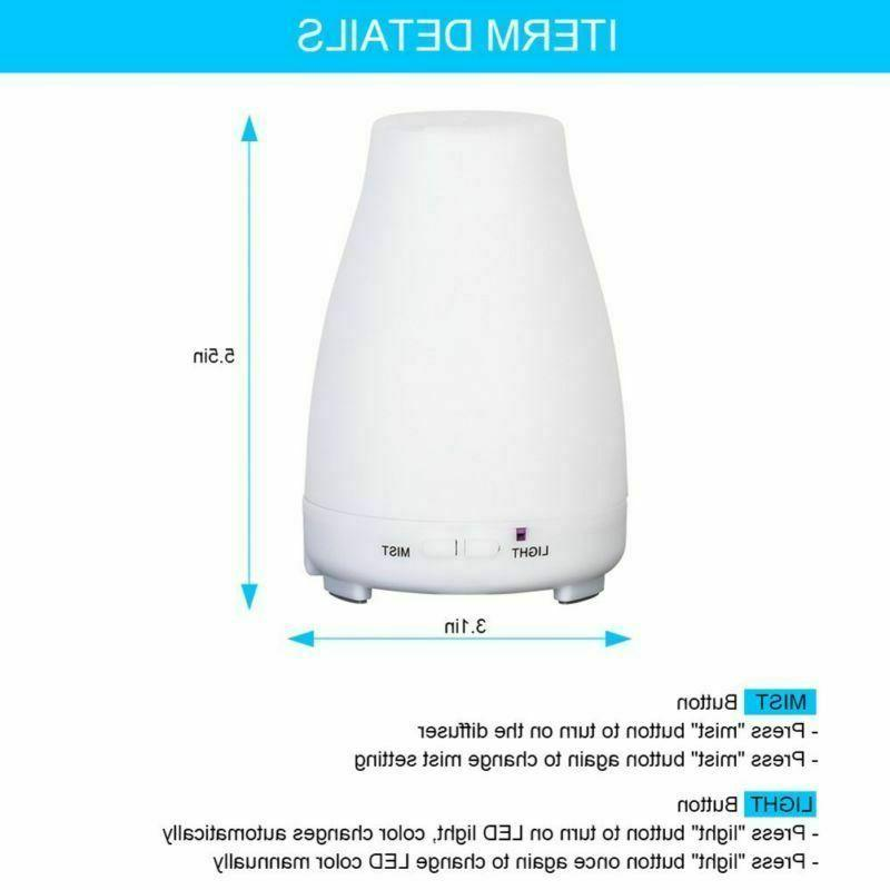 Cool Humidifier LED Ultrasonic Diffuser+Remote Control