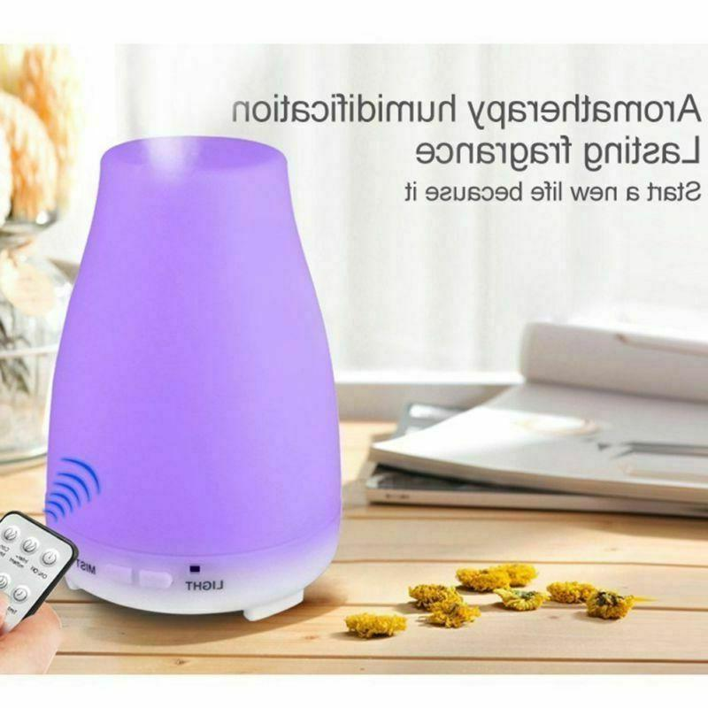 Cool Humidifier LED Ultrasonic Essential Diffuser+Remote