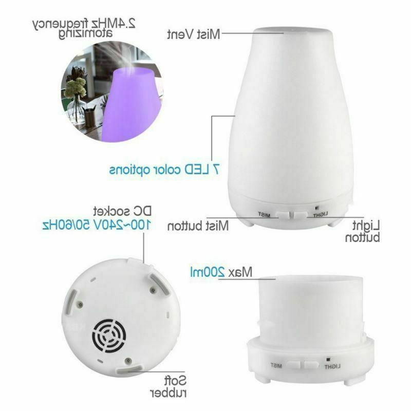 Cool Mist LED Ultrasonic Diffuser+Remote
