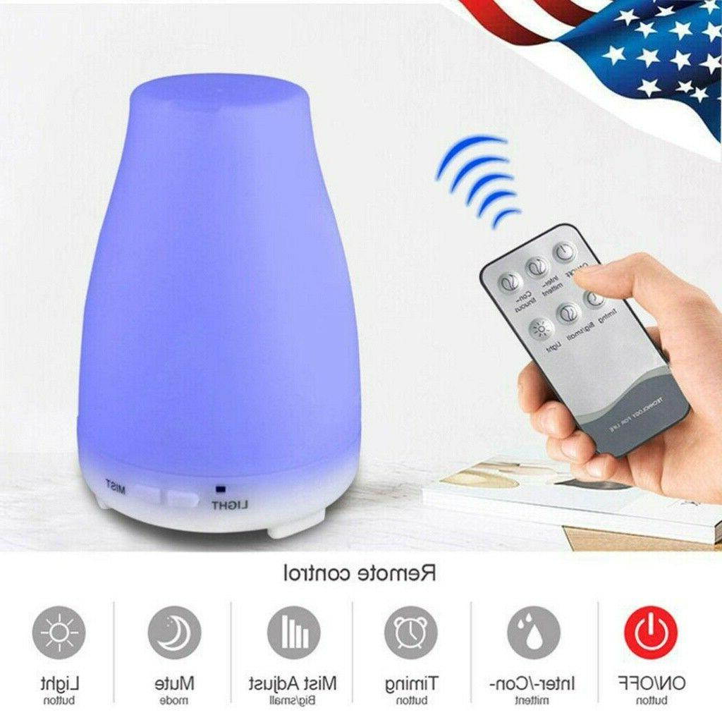 cool mist humidifier led ultrasonic essential oil