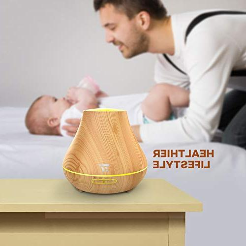 TaoTronics Essential Oil 400ml Wood Grain Diffuser
