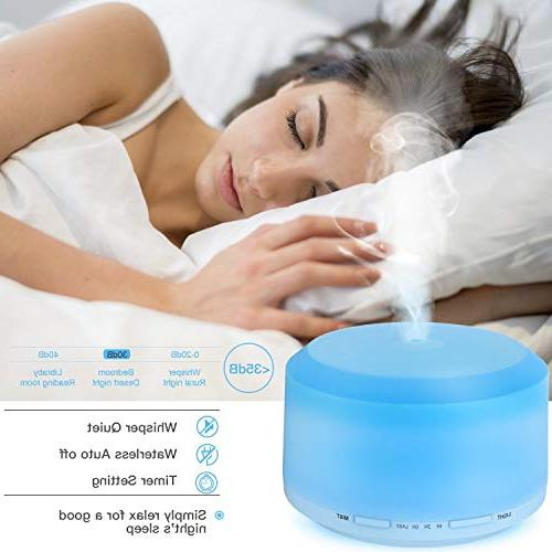Essential Aromatherapy Diffusers Oils Humidifiers LED Mist Mode Timer