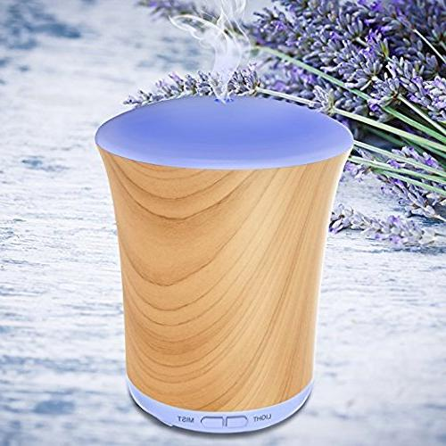 Aromatherapy Oils Oil Diffuser Neloodony Mist Humidifiers LED Auto Shut-off and Adjustable For Home