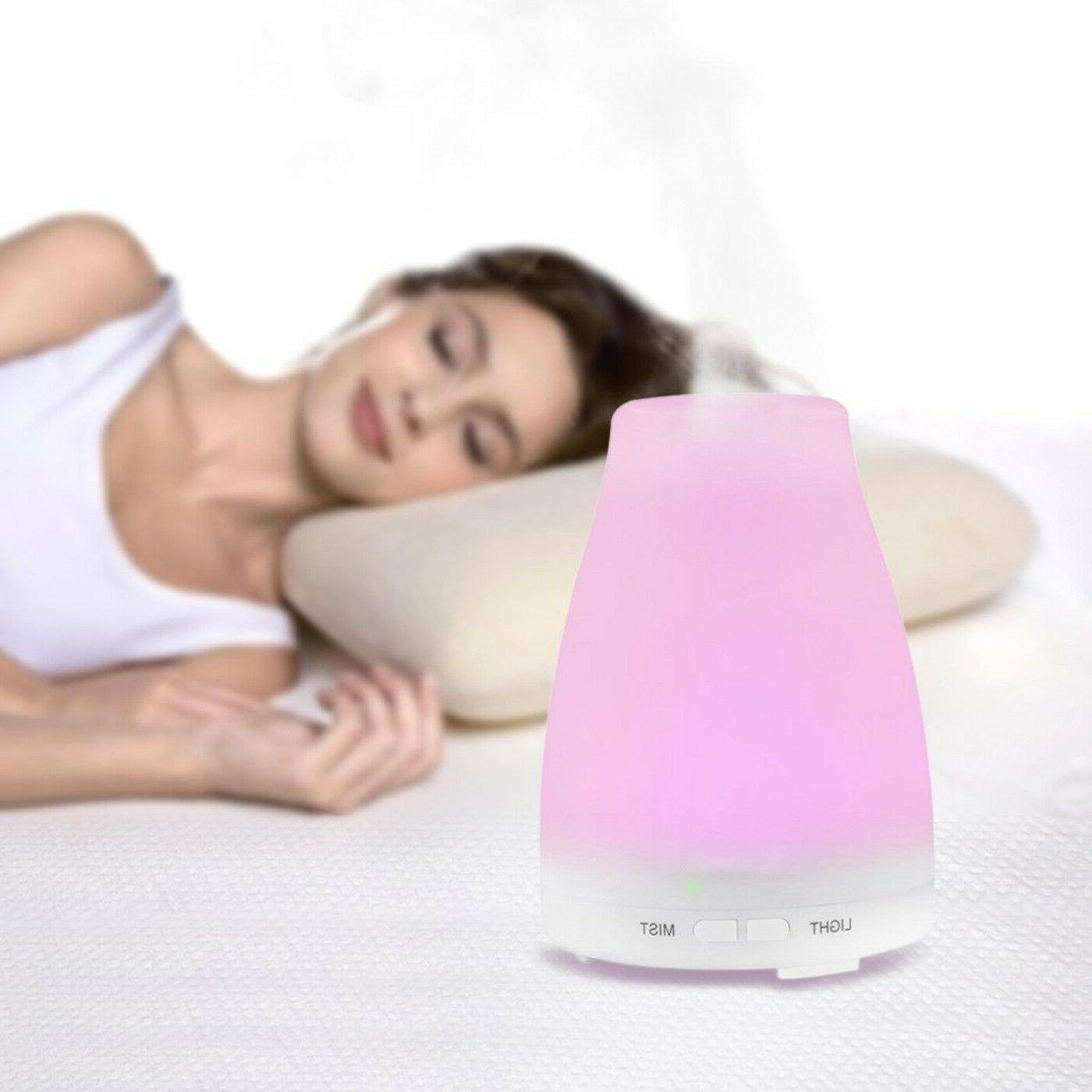 Essential Oil Cool Ultrasonic Humidifier 7-Color LED