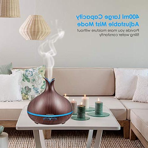 URPOWER Essential Oil Diffuser with Auto Diffuser Humidifier and Timer Humidifiers for Bedroom